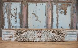 Vinatage Architectual carved Teak Panel with faded paint
